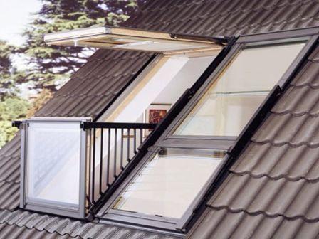 мансардные окна балконы
