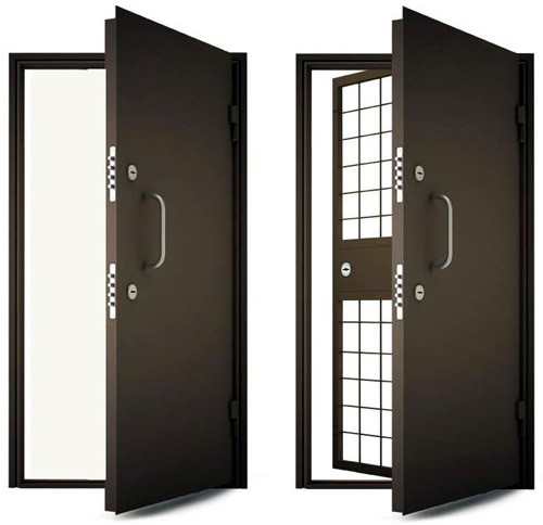 металлические двери с решеткой