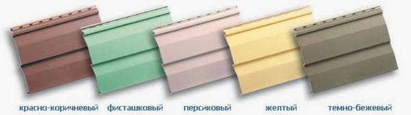 цвета сайдинга винилового