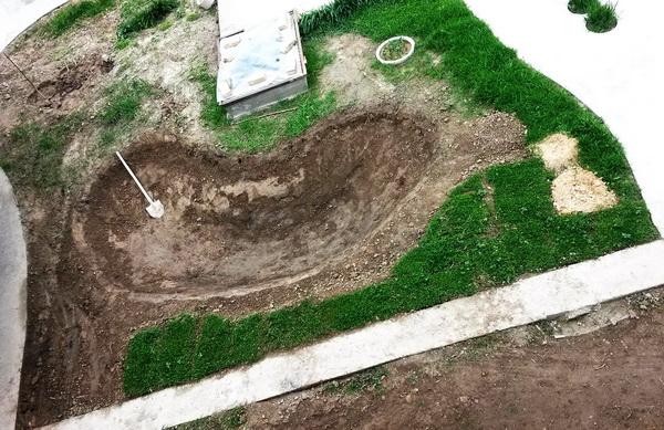 как выкопать котлован для пруда
